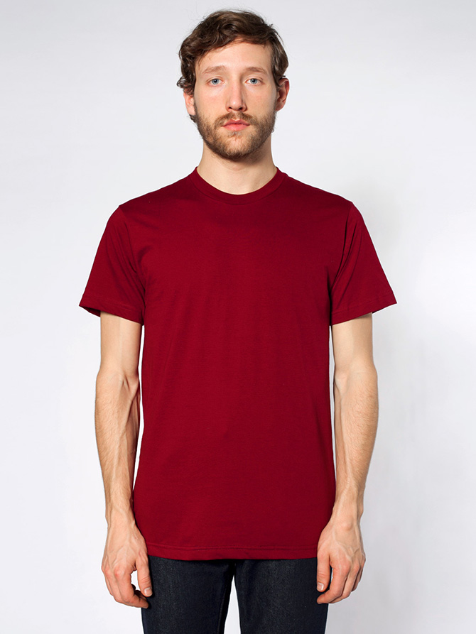 american apparel 2001 fine jersey short sleeve t shirt