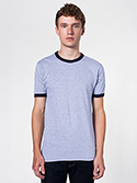 2410W - Imported Fine Jersey Short Sleeve Ringer T-Shirt