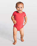 4001ORGW - Imported Organic Infant Baby Rib Short Sleeve One-Piece