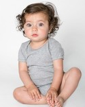 4001W - Imported Infant Baby Rib Short Sleeve One-Piece