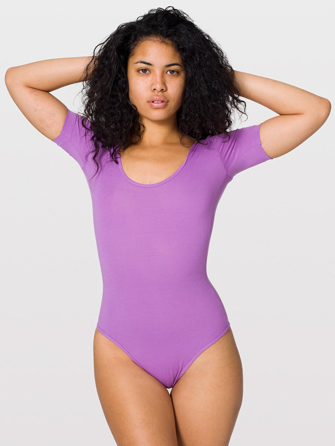 American Apparel 8373 Cotton Spandex Jersey Short Sleeve