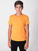 BB201W - Imported Youth Poly-Cotton Short Sleeve Crew Neck