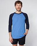 BB453 - Poly-Cotton 3/4 Sleeve Raglan Shirt