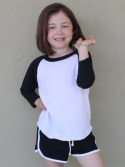 CA153 - Toddler Youth Poly-Cotton 3/4 Sleeve Raglan Made in the USA