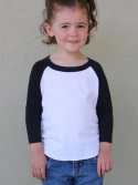 CA153 - Toddler Youth Poly-Cotton 3/4 Sleeve Raglan