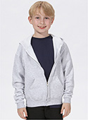 J993B - Youth Full Zip Hooded Sweatshirt