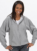 J993 - Adult Full Zip Hooded Sweatshirt