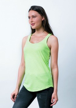 LC7706 - Racerback Scallop-Bottom Tank Top