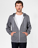 MT497 - Salt and Pepper Zip Hoodie