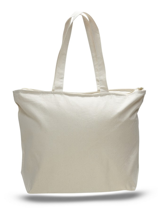 Q-TEES of California Q611 - Canvas Zipper Tote Bag | Apparel ...