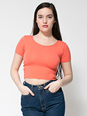 RSA8380W - Imported Cotton Spandex Jersey Crop Tee